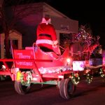 Santa Claus and Reindeer during Gore Bay's Christmas parade.