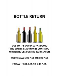 Bottle Return Hours