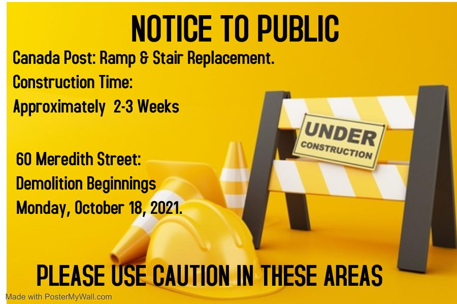 Meredith Street- Notice to Public